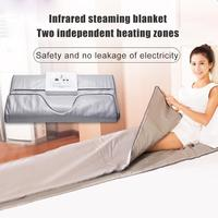 Heating Sauna Blanket Far Infrared Thermal Body Slimming Heating Therapy Slim Bag SPA Weight Loss Body Detox Fitness Machine