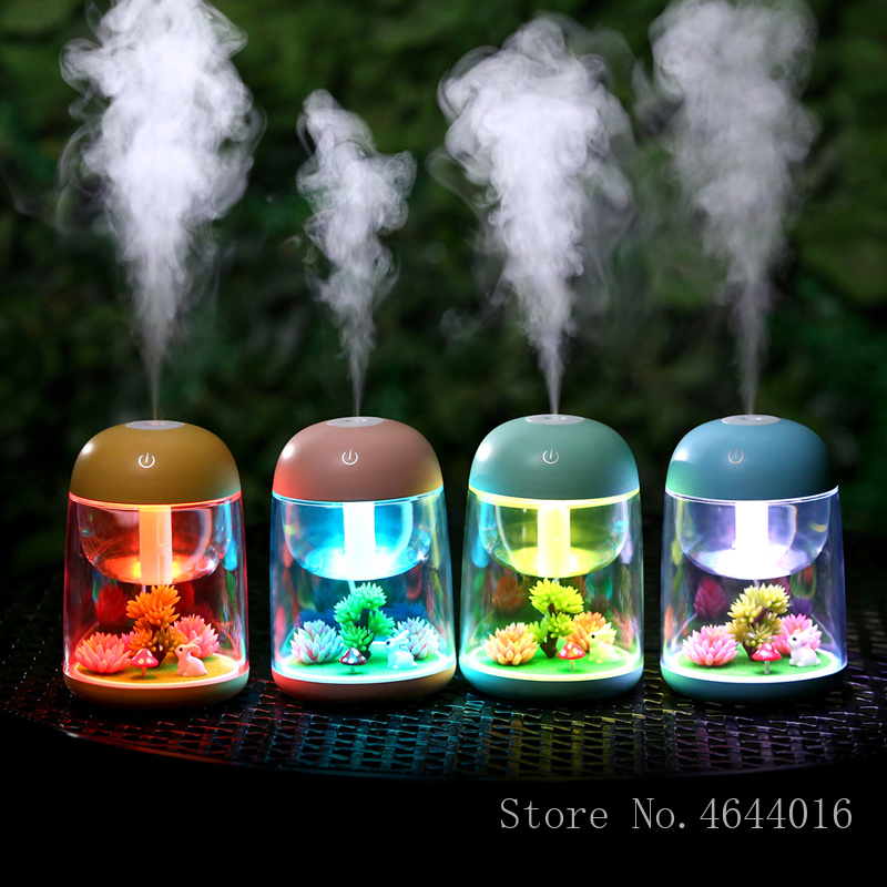New Ultrasonic Air Humidifier USB Humidificador with Aroma Lamp Home Appliances Aroma Essential Oil Diffusers Mist Maker Fogger
