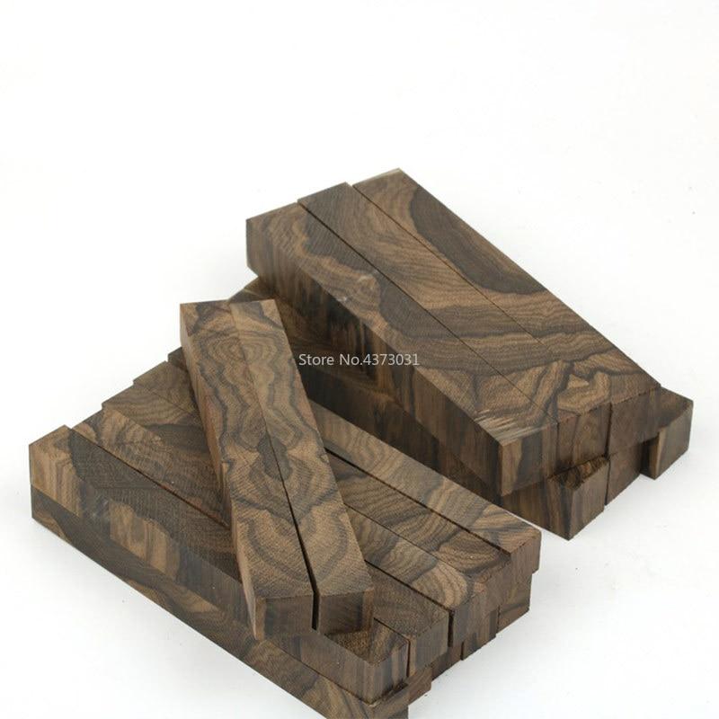 1 Piece DIY Knife Handle Material Persimmon Wood Ziricote, Ciricote (Cordia Dodecandra) Mexican Ebony Knife Handle Material