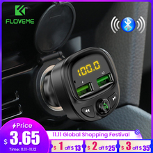 FLOVEME 3.4A chargeur de voiture rapide transmetteur Fm Bluetooth double USB chargeur de téléphone de voiture Mobile charge rapide MP3 TF carte musique voiture Kit