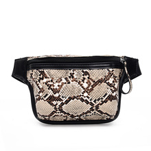 Waist Bag Female Belt Fanny Pack Fashion Serpentine Chest Handbag Ladies Belly Bags Purse