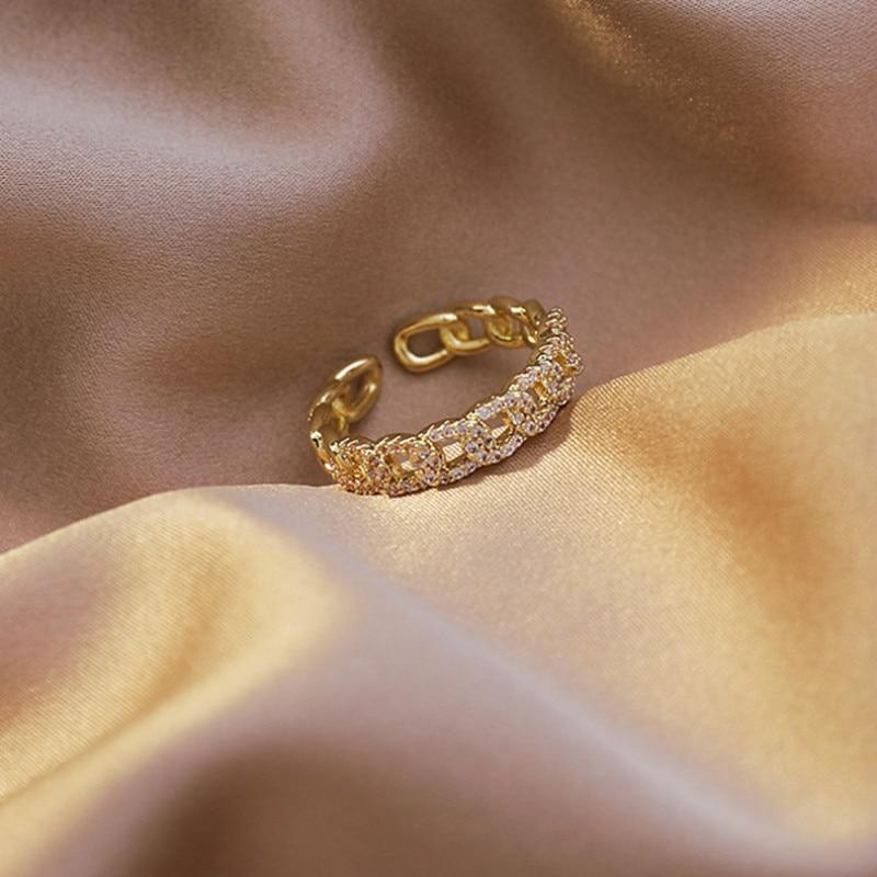 Новинка 2020 корейский Изысканный Открытое кольцо с витками модное темпераментное простое кольцо элегантные женские ювелирные изделия