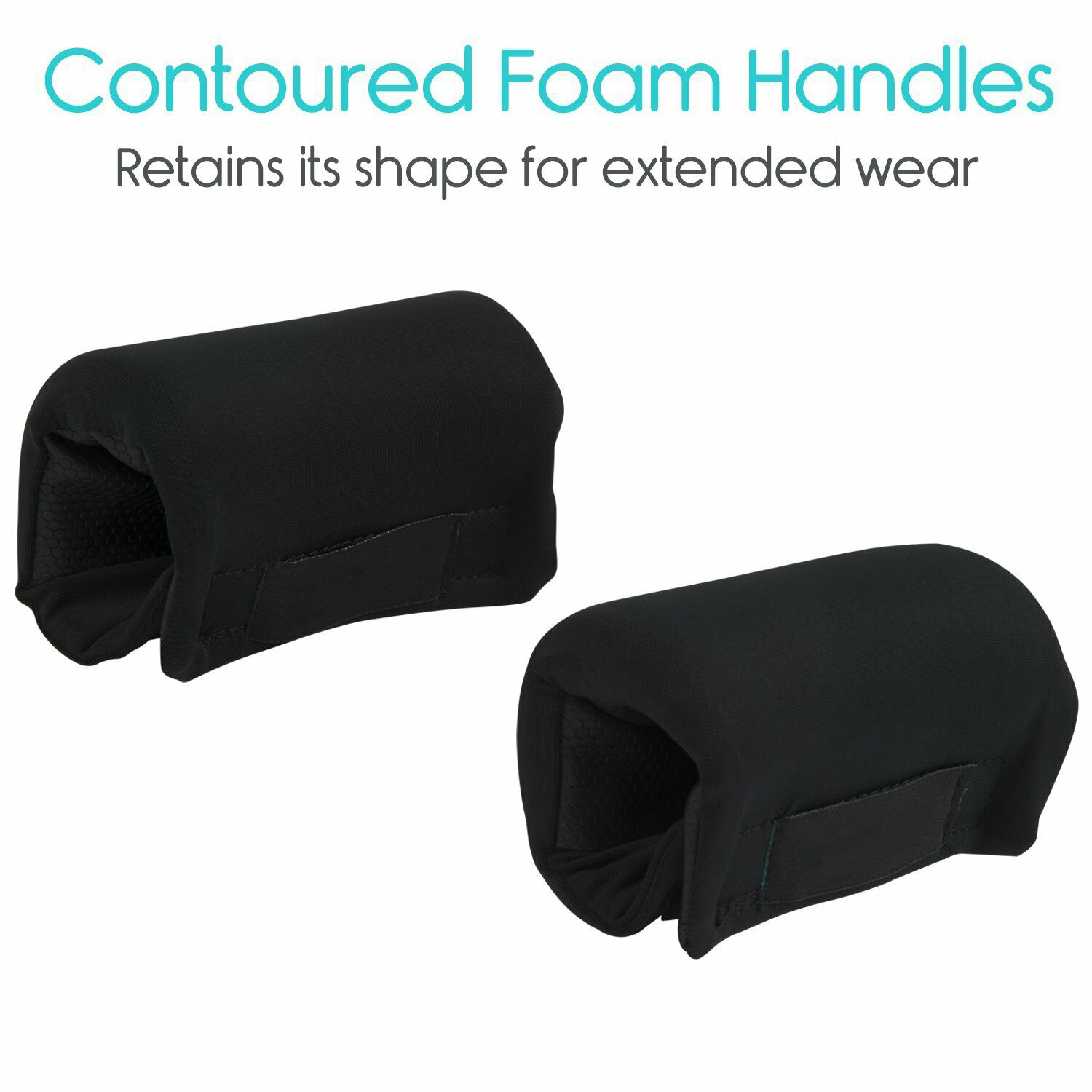 1 Pair Rolling Wheelchair Aid Handle Hand Cover Padded Elderly Non-Slip Universal Rollator Walker Grip Easy Clean Soft Cushion