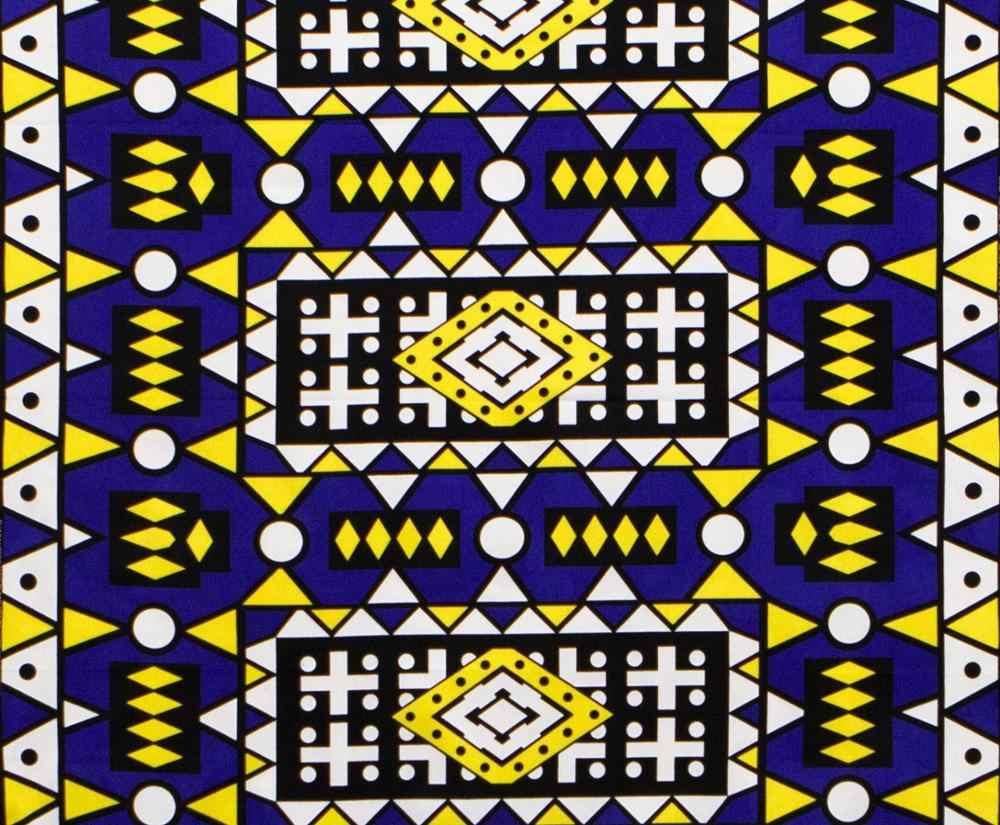 Nieuwe Afrikaanse Echte Waxprint 6Yards Katoen Ankara Nigeria Ghana Ankara Real Wax Voor Patchwork Naaien Afrikaanse Jurken 12103