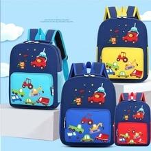 Backpacks Children Schoolbag Animal Baby-Boys Cartoon Kindergarten New Lion Excavator