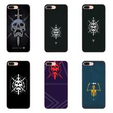 Jogo Popular Destino Raid Emblema Crânio Para Apple iPhone 4 4S 5 5C 5S SE 6 6S 7 8 mais X XS Max XR Covers TPU Caso Macio(China)