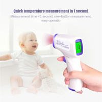 Non contact Digital Baby Infrared Forehead Thermometer Temperature Meter Instruments Kids Body Fever IR Household Thermometer