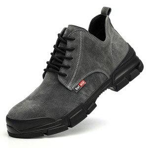 Image 2 - 2019 אופנה גבר נעלי בטיחות הבוהן פלדה קיץ לנשימה קל לרסק הוכחת דקירה בטוח רתך עבודה בטיחות אתחול עבודה נעליים