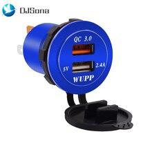 1 шт. розетка для автомобильного прикуривателя QC3.0 двойной мотоцикл USB порт зарядное устройство розетка светодиодный разъем вольтметр розетка сплиттер