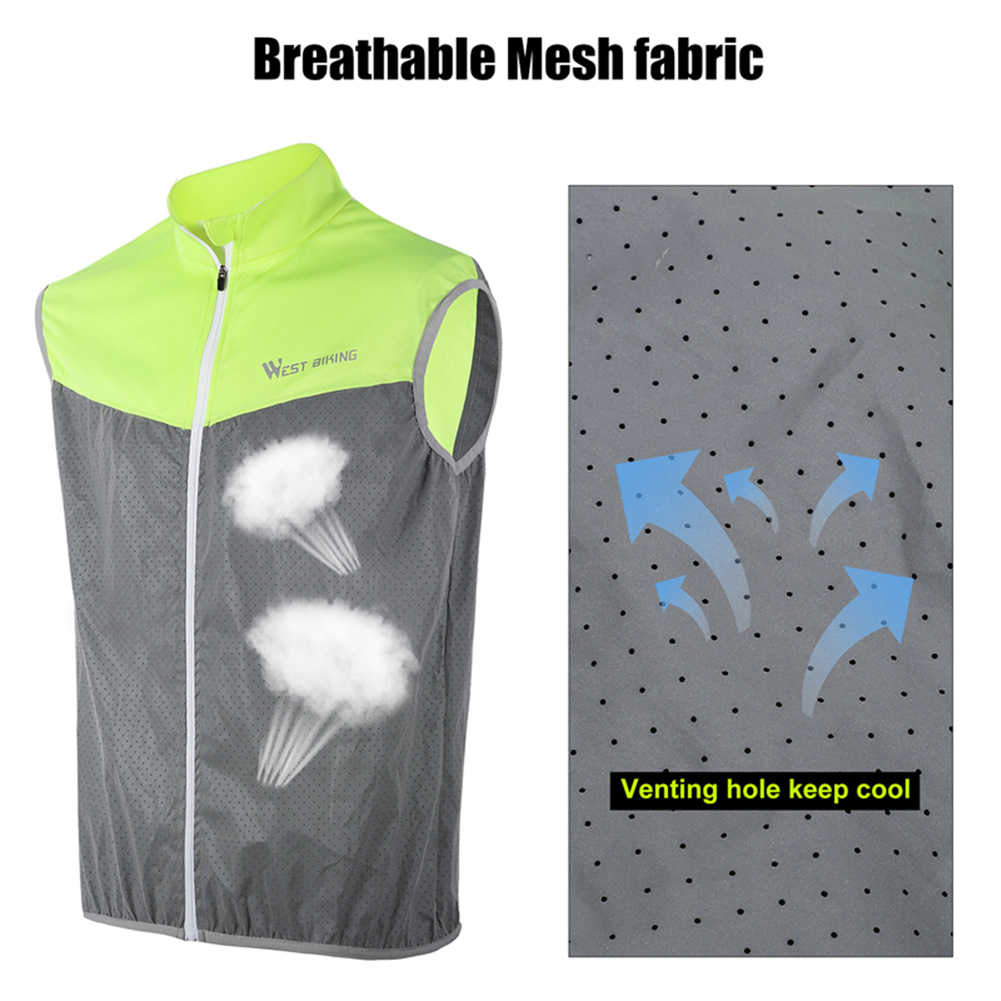Outdoor Reflecterende Vest Winddicht Mouwloze Nacht Joggen Jas Voor Outdoor Fietsen Night Jogging Running Levert