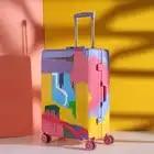 HEIßER 20/24/28 Zoll Rolling Gepäck Sipnner Räder Graffiti Farbige Straße Frauen Reise Koffer Männer Kabine Tragen auf Trolley Box