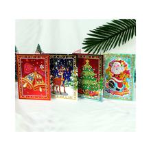 8 sztuk 5D DIY diamentowe malowanie kartki świąteczne Halloween świąteczne kartki z życzeniami urodzinowymi z kopertami i narzędzia do malowania Craft prezent tanie tanio CN (pochodzenie) 13X18 CM 15X15CM DIY Christmas Cards Other