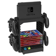 For Nintend Switch Game Accessories Multi-Function Game Storage Tower Stackable Game Disk Storage Holder Stand Shelf