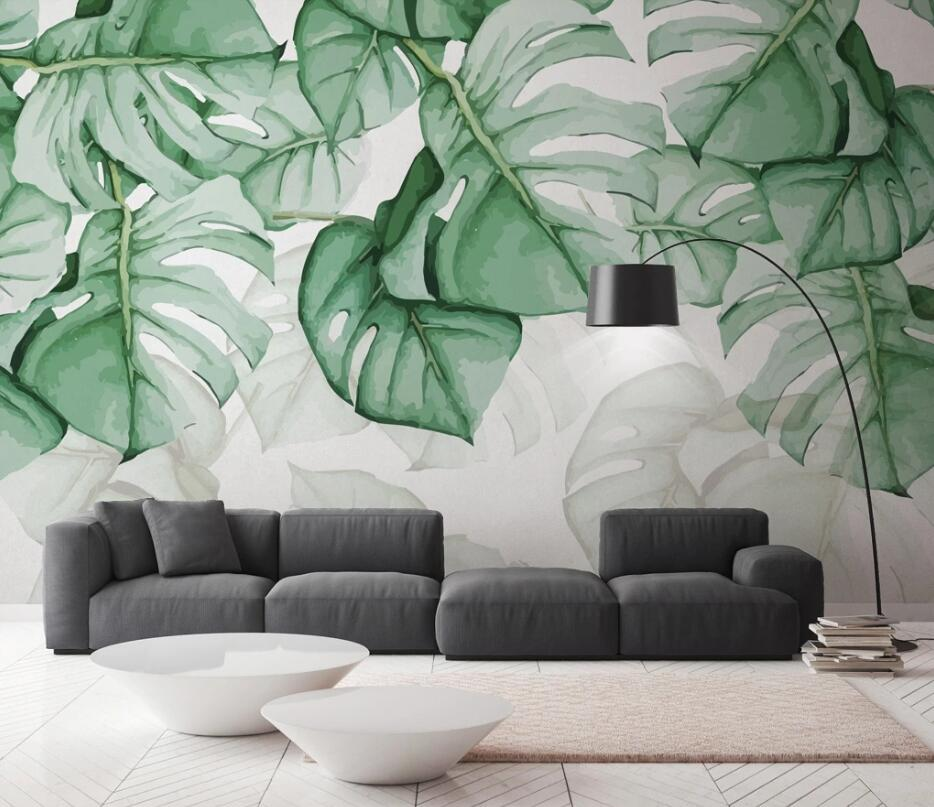 Beibehang Custom Wallpaper Hand-painted Tortoise Shell Back Tropical Plant Background Wall Living Room Bedroom 3d Wallpaper