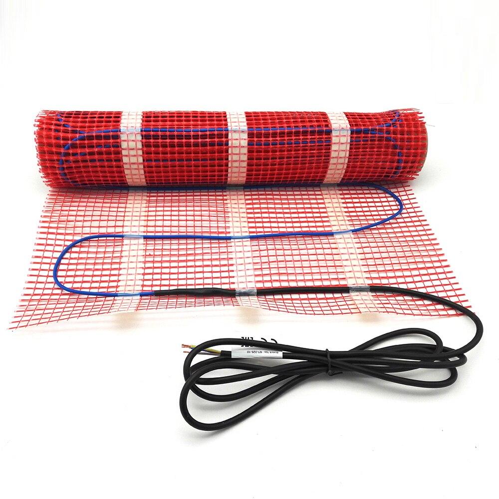 0,5 ~ 15m2 150w/m2 Электрический пол нагревательный коврик 220V инфракрасный двухъядерный теплый пол пленка