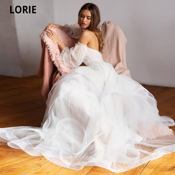 Booma Sweetheart Bridal Dress, Layered A-line Skirt Reception Gown,Bohemian Wedding Dress, Corset Lace Wedding Dress Dot Tulle layered flounce trim dress