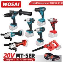 Wosai mt series bare tool furadeira elétrica/chave de fenda/ventilador/chave elétrica sem escova/martelo/serra de corrente/para bateria 18v makita
