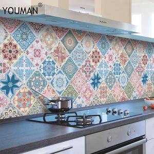 Wallpapers Stickers Tile Countertop Kitchen Self-Adhesive Oil-Proof Cabinet Cooktop Hood