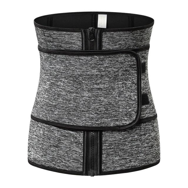 Women's Bodyshaper Workout Sweat Belt Corset Belt Ladies Firm Waist Trainer Neoprene Fitness Button Girdle Corset Trimmer Vest 4