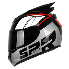 цены Motorcycle Helmet Women Men Moto Helmet Moto Ear Helmet Personality Full Face Motor Helmet 6 Colors Pink Blue Black White