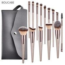 4 14 stücke Make Up Pinsel Set Für Foundation Powder Blush Lidschatten Concealer Lip Eye Make Up Pinsel Mit Tasche kosmetik Schönheit Werkzeuge