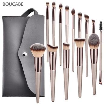 4-14pcs Makeup Brushes Set For Foundation Powder Blush Eyeshadow Concealer Lip Eye Make Up Brush With Bag Cosmetics Beauty Tools недорого