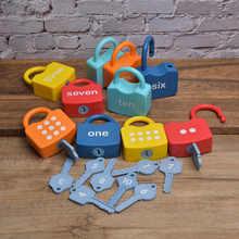 Plástico montessori bloqueios conjunto cognitivo números travamento pré-escolar brinquedo aprendizagem precoce brinquedos educativos para crianças presentes das crianças