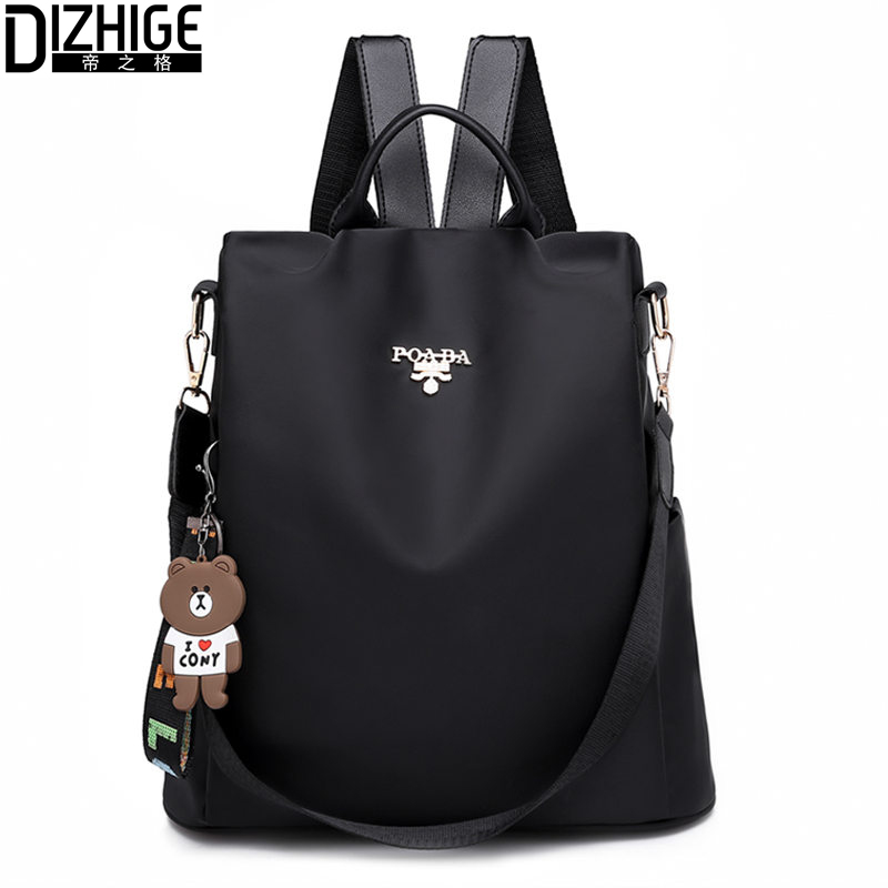 DIZHIGE Brand Luxury Waterproof Oxford Women Anti-theft Backpacks Multifunctional Travel Bags High Quality School Bag For Women
