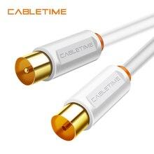 CABLETIME Cable de vídeo M/F 3C2V para televisión de alta definición, HD, antena de alta calidad, STB, línea de TV Digital N314