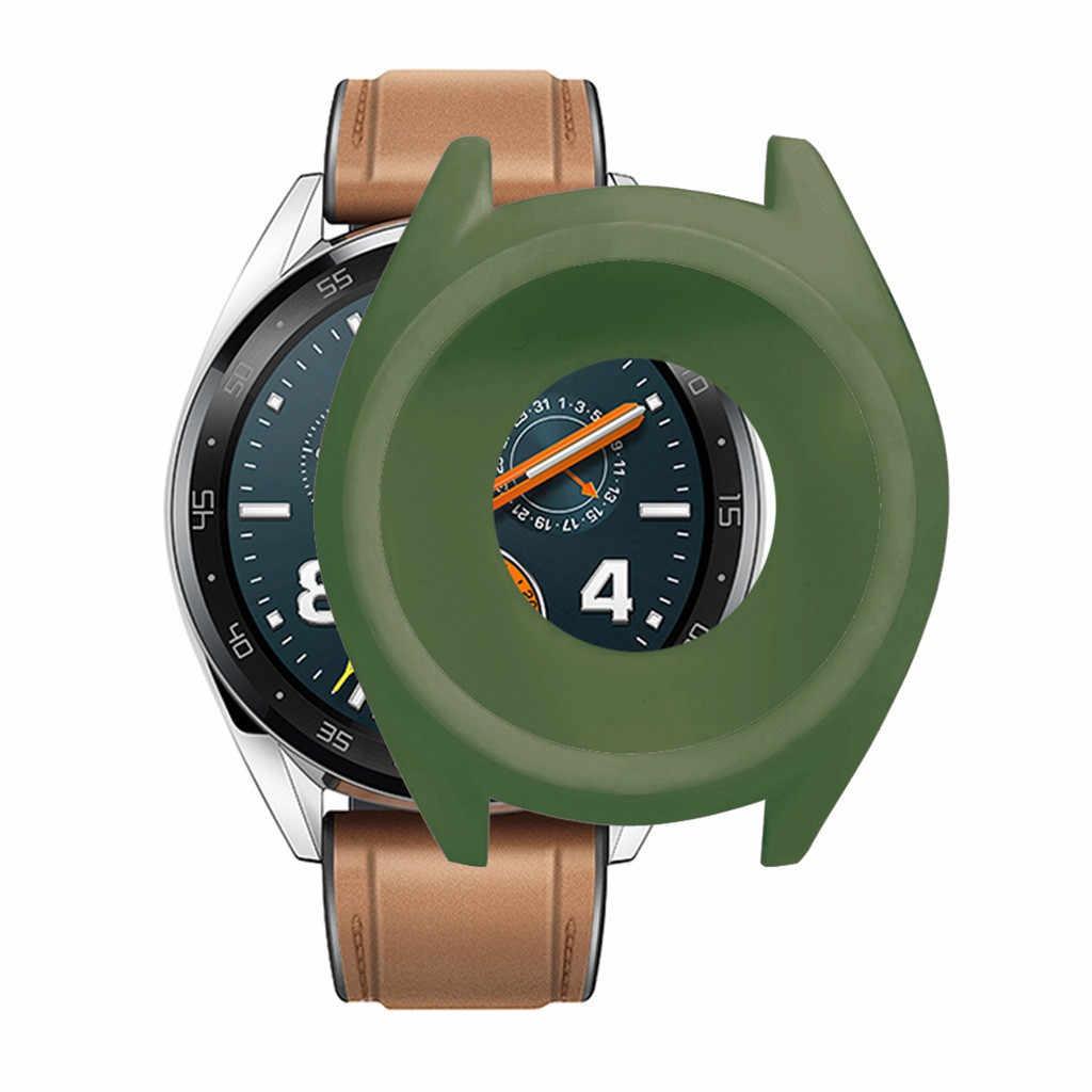 Tpu macio caso completo capa escudo quadro amortecedor protetor para huawei gt 2 46mm relógio inteligente acessórios wearable protetor gt2 #1019