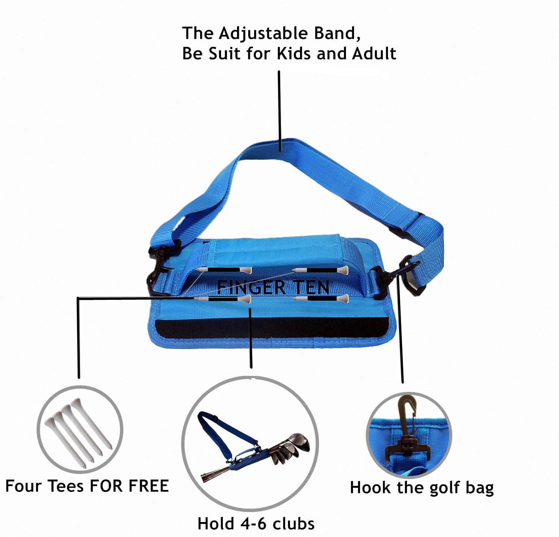 He78cfeebca124447afd5a78b840c774ds Lightweight Mini Golf Club Bag Driving Range Carrier Course Training Case Black Blue Pink for Men Women Kids