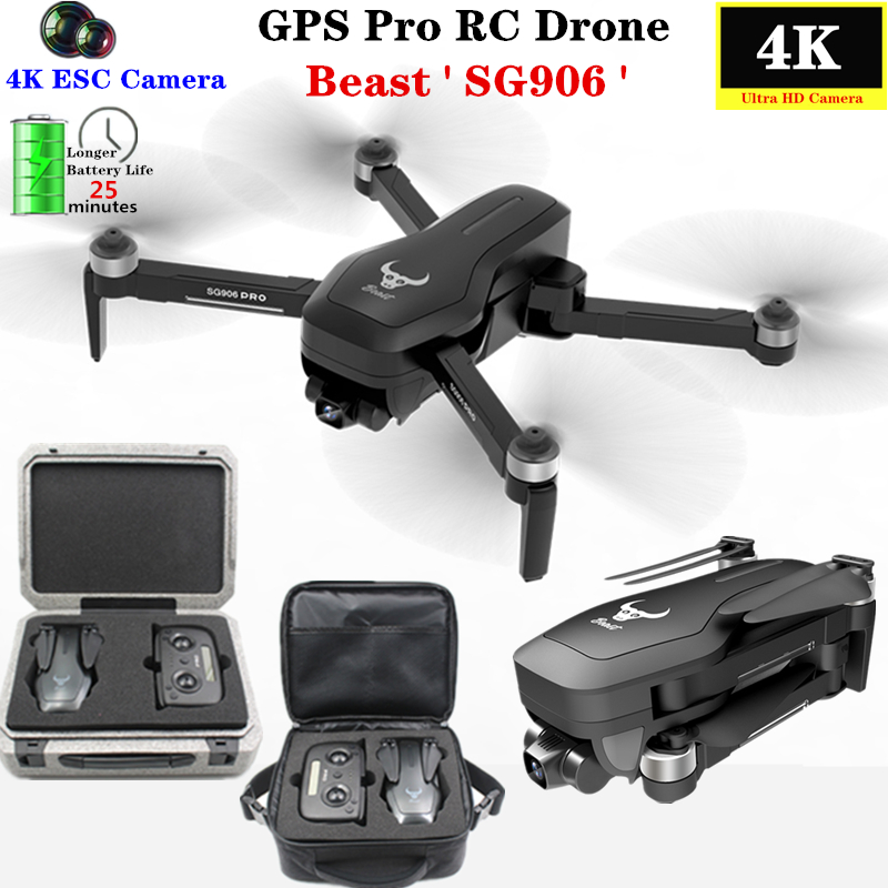 Beast SG906 PRO GPS Drone 4K HD Camera With Two-axis Anti-shake Self-stabilizing Gimbal Professional Selfie Brushless Quadcopter