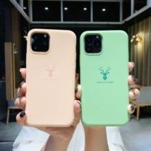 Luxury Case For iPhone 11 Pro Max Soft Fashion Silicone Cover Coque Funda Etui