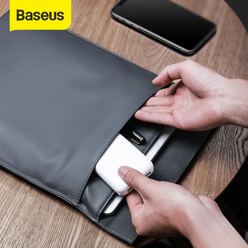 Baseus Laptop Sleeve Bag Case for Macbook Air Pro 13 14 15 16 Super Thin Double-layer Computer Liner Bag Case for Dell Lenovo