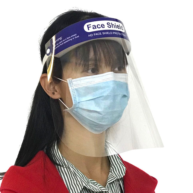 10pcs per set transparent PET anti virus face shield , anti infection face mask 5