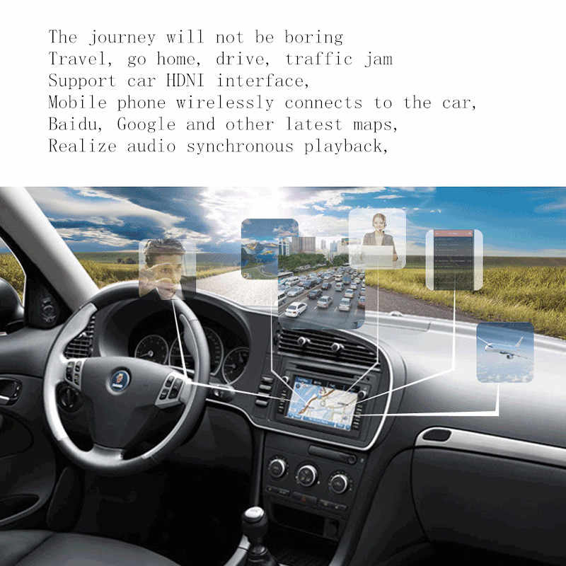 carplay Car 12v tv screen usb wireless HD HDMI screen Apple AirPlay for  cars Mirror connection android ios mac phone pc windows