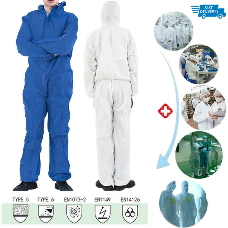 Reusable Coverall Hazmat Suit Protection Protective Disposable Protective Clothing Anti Bacterial Work Medical Isolation Suit