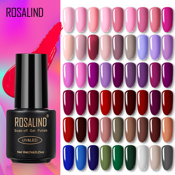 ROSALIND Gel Polish Varnish Set For Nails Extension Vernis Semi Permanent All for Manicure Base Coat Nail Art UV Gel Nail Polish 1