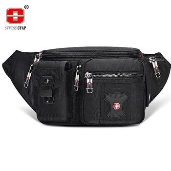 цена на Multifunctional Unisex Waist Pack Casual Fanny Pack Men Belt Bag Phone Pouch Bags Women Black More Pockets Small Waist Bag Male