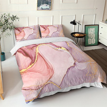 Pillowcase Quilt-Cover Light Bed Linen Abstract Nordic Twin-Queen Single Girl Pink Art-Pattern