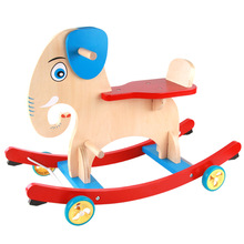 Dual Purpose CHILDREN'S Rocking Chair Carousel Baby CHILDREN'S Toy Elephant Trojan Infants Rocking Horse a Year of Age Gift