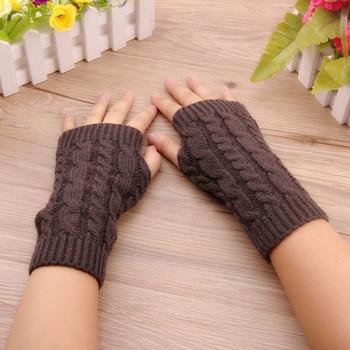 Фото - 2020 Winter Gloves Women Stylish Hand Warmer Gloves Arm Crochet Knitting Faux Wool Mitten Warm Fingerless Glove Gants Femme wool mittens warm fingerless gloves black hand warmer winter knitting gloves fashion gloves women arm wrist sleeve hand warmer