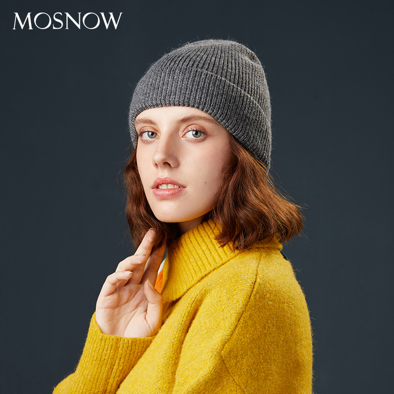 Female Beanie Winter Hats For Women Casual Autumn Knitted Cap Beanies Girl  Rabbit Hair  2019 New Fashion High Quality Soft Hat