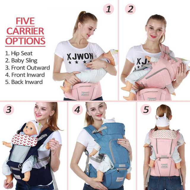 0-36 Months 3 in 1 Baby Sling Baby Carrier Infant Kid Baby Hipseat Sling Front Facing Kangaroo Baby Wrap Carrier For Baby Travel 2