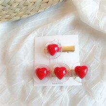 New Fashion Women Girls Hairpins Heart Delicate Hair Pin Accessories Elegant Korean Design Snap Decorations Jewelry