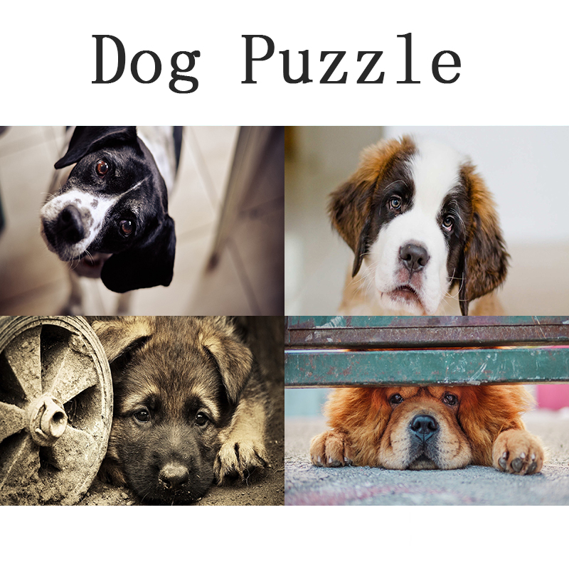 Children's Educational 1000 Piece Pet Dog Wodden Puzzle For Adult DIY Attractions Jigsaw Puzzle Collectiable Assembling Toy Gift