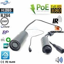 P2P Onvif Waterproof Outdoor 1080p 2mp Miniature Ir Infrared Bullet Mini IP Camera POE Day Night
