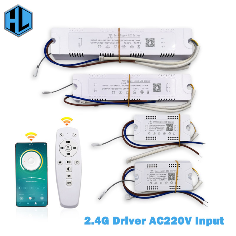 12-60W*2 LED Intelligent Lamp Driver Light Transformer Input AC170-265V 2.4G WIFI Power Supply Adapter For Phone Control Lamp