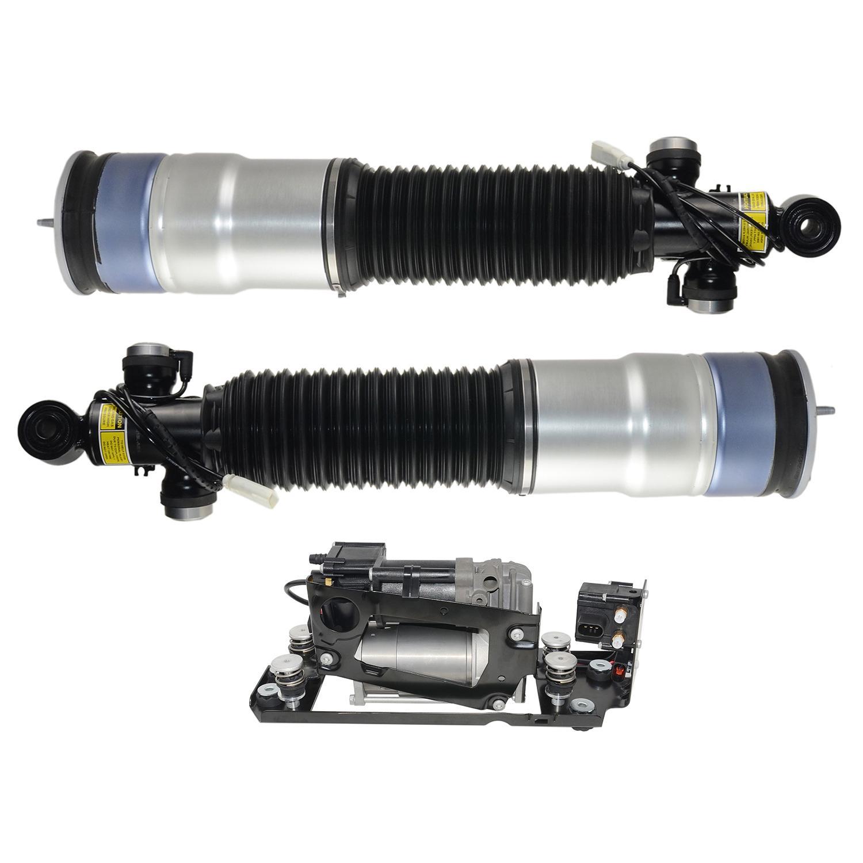 AP03 Pair Rear Air Struts +Compresor pump For BMW 7 series F01 F02 740i 750Li 760Li 37126796930, 37126796929