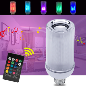 Image 2 - Smart E27 8W LED Bulb RGB Light Bluetooth Audio Speaker LED Light Bulb Music Playing Dimmable Light with 24 Keys Remote Control